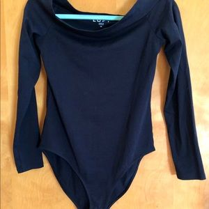 Loft navy new with tags bodysuit